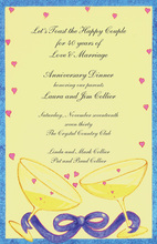 Heartfelt Toasting Yellow Backdrop Invites