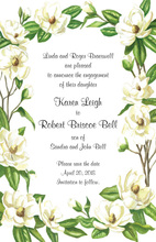Beautiful Magnolia Blossoms Invitation