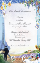 Eiffel Tower France Travel Themed Invitations