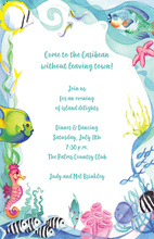 Colorful Ocean Sea Live Invitation