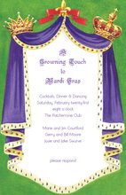 Royal Throne Curtain Frame Invitations
