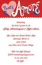 Italian Inspired That's Amore Invitations
