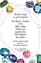 Dazzling Colorful Sparkling Jewels Invitation
