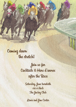 Race Track To The Finish Line Invitations