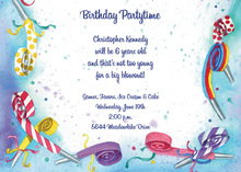 Colorful Party Blowout Invitation
