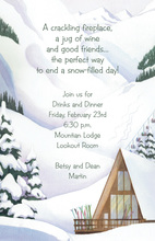 Cabin Landscape Winter Scene Invitation