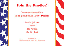 July Glory Patriotic Invitation
