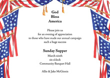 American Flag Waving Invitation