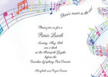 Colorful Musical Notes Invitation