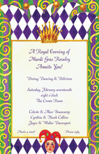 Festive Royal Mardi Gras Invitation