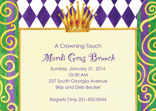 Royal Mardi Gras Crown Invitations