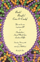 Beads Colorful Oval Style Invitation