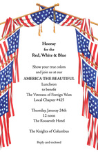 American Flag Arch Invitation