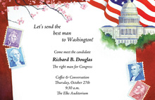 Washington Delivery President Stamps Invitation