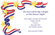 Patriotic Stars And Ribbons Invitation