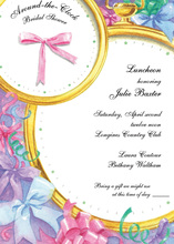 Pink Ribbon Feminine Watch Invitation