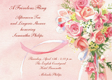 Beautiful Pink Bridal Bouquet Invitations