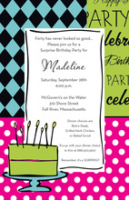 Ladies Cake Birthday Invitations