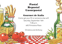 Traditional Italian Pasta Invitations