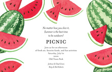 Fresh Watermelon Slices For Picnic Invitations