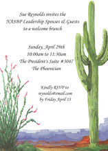Mountainous Desert Sedona Cactus Invitation