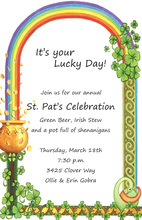 St. Patrick's Day Rainbow Invitations