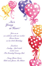 Inflated Colored Loving Hearts Invitation
