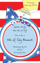 July 4th Placesetting Invitation