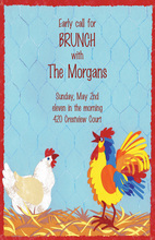 Chicken And Rooster Coop Invitation