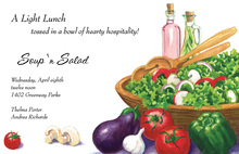 Italian Fresh Vegetable Salad Days Invitation