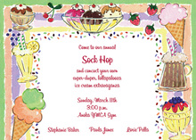 Soda Fountain Ice Creams Invitation