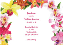 Fancy Blooming Orchid Invitation