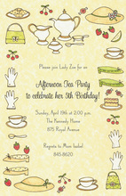 Tea Date Ladies Luncheon Invitation