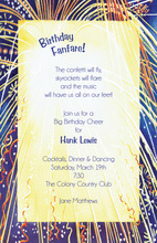 Midnight Blue Backdrop Fireworks Invitation
