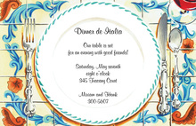 Antique China Dinner de Italia Invitation