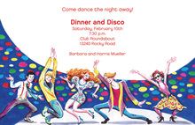 Inspired Oldies Disco Dance Invitations