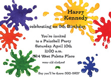Splash Paint Ball Invitations