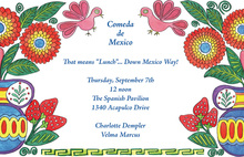 Mexican Stitches Invitation