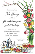 High Tea Floral Arrangement Invitations