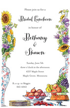 Decorated Floral Brunch Buffet Invitations