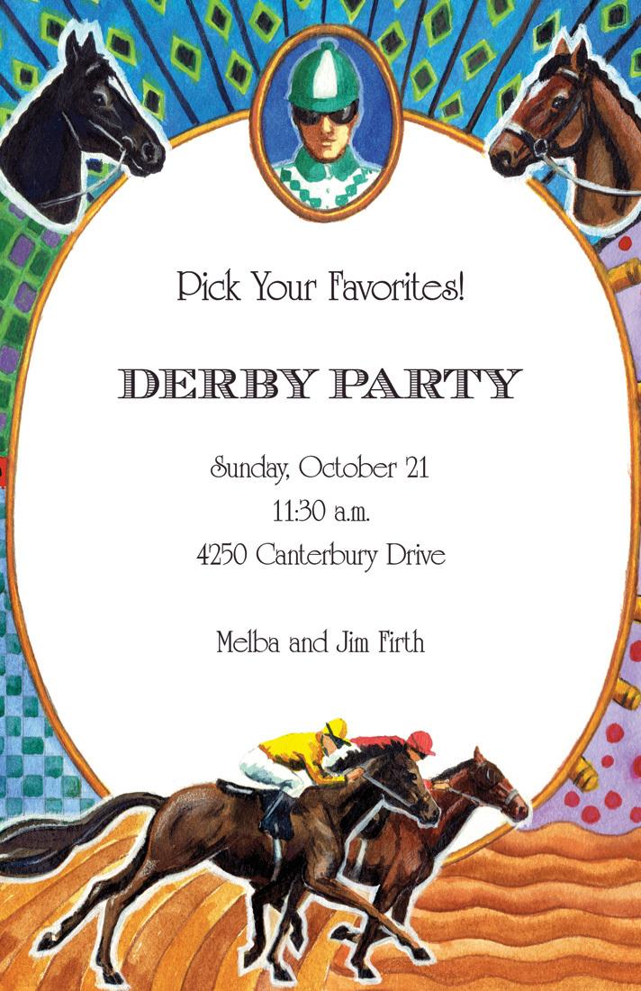 Jockey Silks Horse Racing Invitation