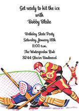 Traditional American Ice Hockey Game Invitation
