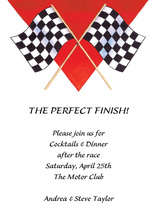 Featuring Two Racing Flags Invitation