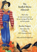 Stuffed Shirt Scarecrow Invitation
