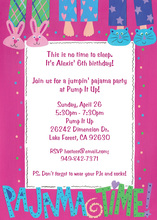 Pajama Time Girls Party Invitations