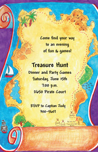 Burried Pirate Treasure Invitation