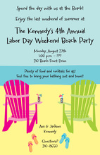 Cozy Shore Beach Chairs Invitation