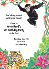 Tiger Monkey Jungle Fun Invitations