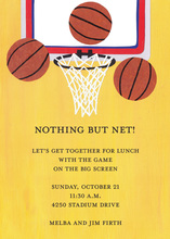 Basketball Hoop Invitation