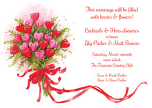 Blooming Heart Bouquet Shower Invitations